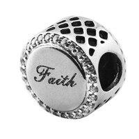 DIY Kralen voor Sieraden Maken Sterling-Zilver-Sieraden Geloof Cross Charm Zilver Kraal 925 Berloque Perles Fit Merk