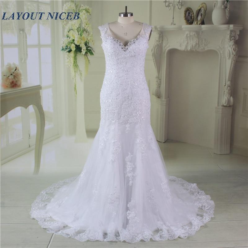 Mermaid Vestido De Noiva Bridal Gown Vintage Sleeveless
