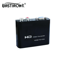 HD HDMI to VGA Adapter Digital to Analog Audio Converter Support 1080P for Laptop PS3 PS4 XBOX Apple TV with EU AU US UK Plug