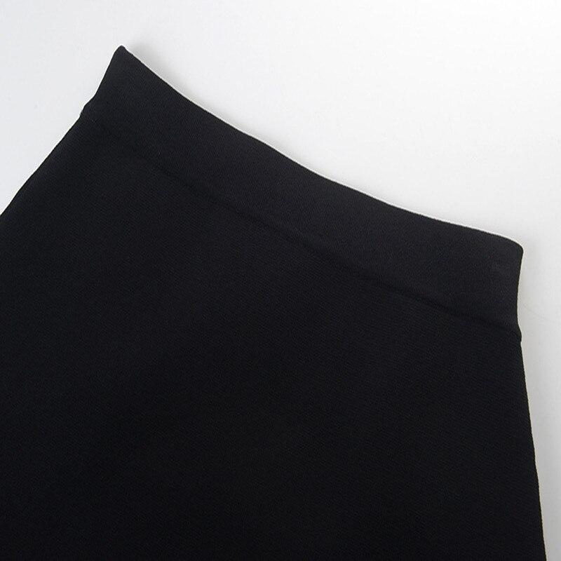 Rétro rayé Mini jupe Femme été femmes jupe fendu tricot jupe piste bas taille haute - 5