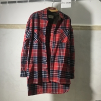 Best Version 1 1 Fear Of God Men Flannel Casual Shirts Hiphop Justin Bieber Tartan Plaid
