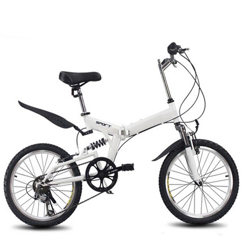 20 pouces vélo pliant 6 vitesse variable vélo de route vélo pour enfants VTT Portable léger vélo pliant