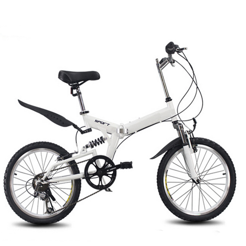 20inch Folding Bike 6 Variable Speed Bicycle Road Bike Children's Mountain Bike Portable Lightweight Folding Bicycle
