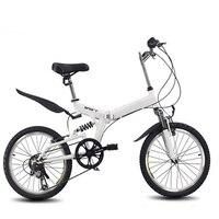 20inch folding bike 6 variable speed bicycle road bike Children's mountain bike Portable lightweight folding bicycle
