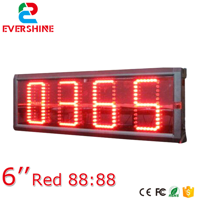 semi outdoor programmable clock time date temperature led sign