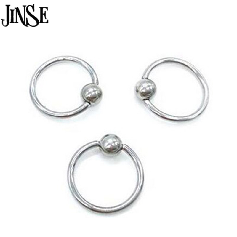 Imported From Abroad Sayao 1 Piece Big Size Stainless Steel Captive Hoop Rings Bcr Spring Tragus Ear Piercing Nose Closure Nipple Bar Body Jewelry Jewelry & Accessories Jewelry Sets & More