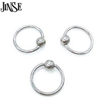 BDJ030 5piece/lot Surgical Steel Hoop Ring Piercing Ball Closure For Lip Ear Nose Eyebrow Nipple Golden Rose body jewelry