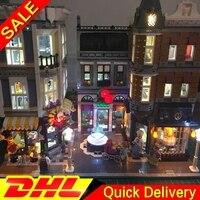 Светодиодный светильник Legogo 15019 4002 шт. в сборе 10255 квадратный создатель городской серии Модель Строительный кирпич lepinings игрушки