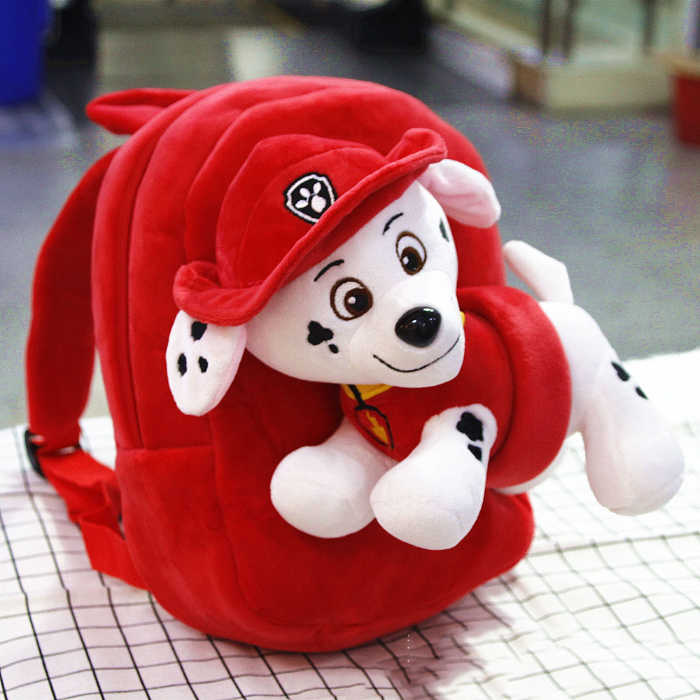 Paw Patrol Plush Bag Mini Backpack Children's Cartoon Kids Student Bag Kindergarten 3-7 Years Old Children Backpacks Toys 2D17