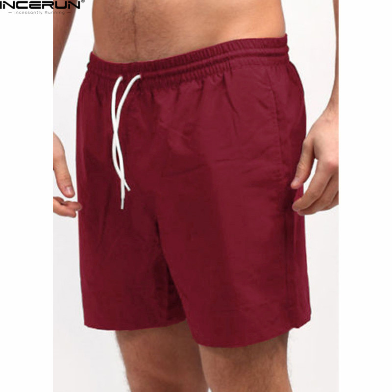 INCERUN Men Shorts Casual Male Loose Elastic Waist Bodybuilding Workout Bermuda Board Shorts Plus Size Jogger Clothes