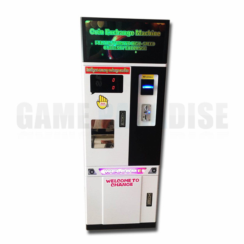 bill exchange coin token money change machine automatically currency exchange machine