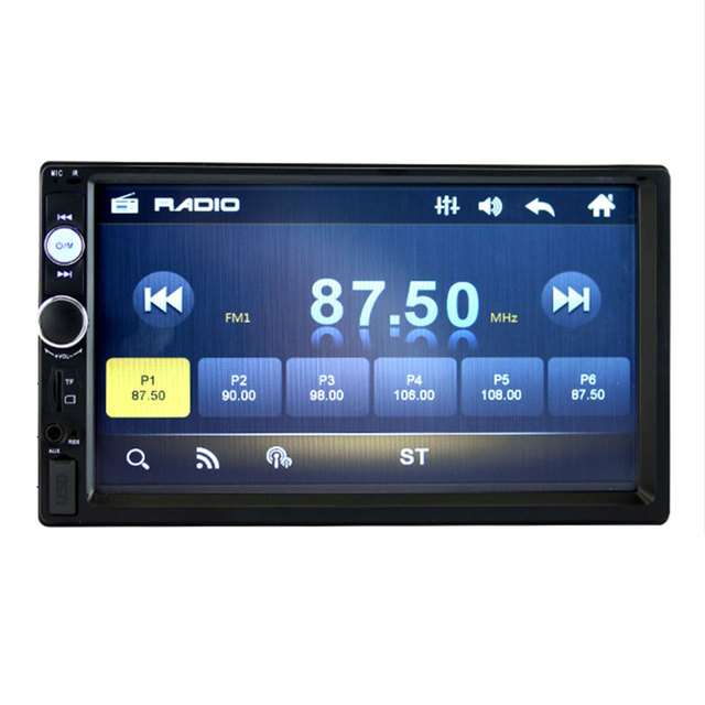 """7"""" Double DIN For Car MP5 Bluetooth Touch Screen Rearview Camera 70101B"""