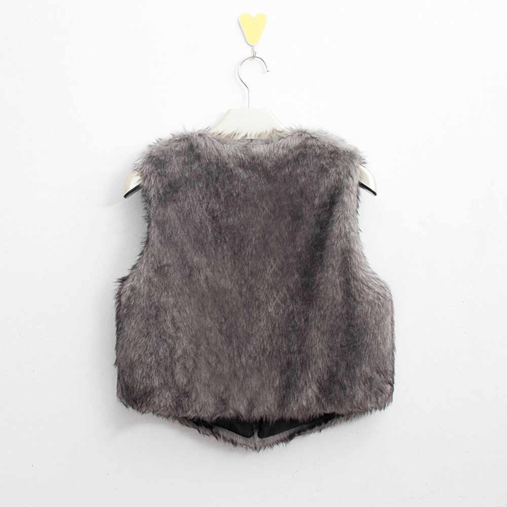무료 타조 모피 조끼 2019 캐주얼 오픈 스티치 v 목 솔리드 패션 가짜 모피 코트 따뜻한 짧은 겨울 자켓 여성 pt