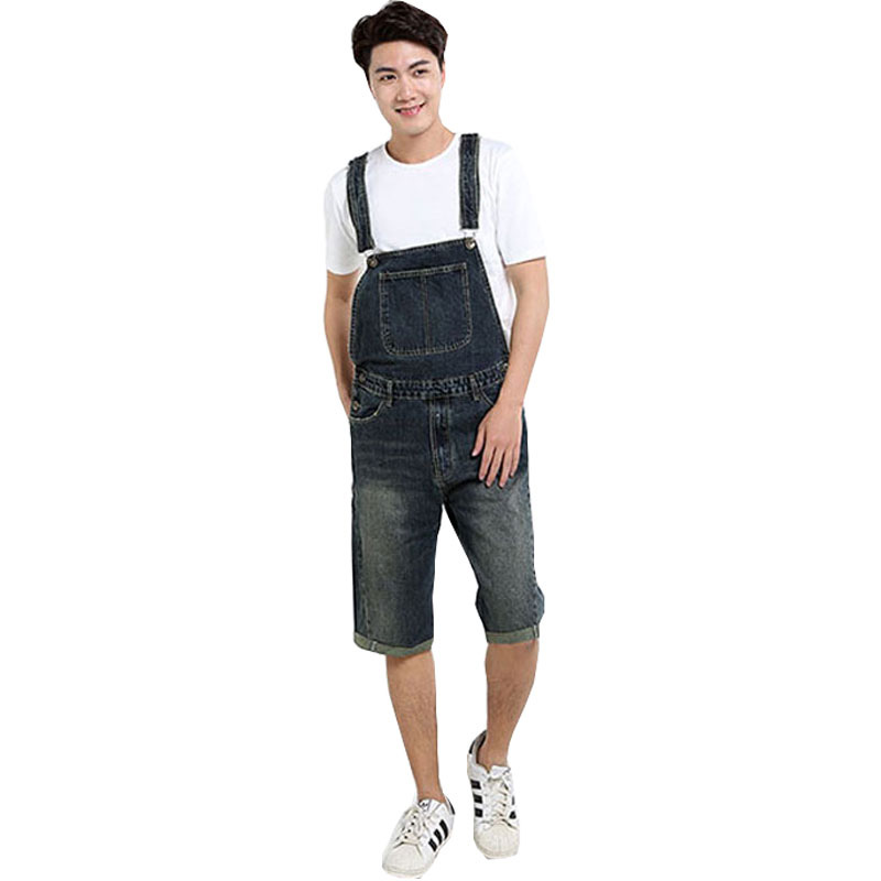 2019 New Summer Loose Jumpsuit Pants Five Points Shorts Large Size Casual Denim Bibs Male Korean Version Of The Trend Shorts 4xl