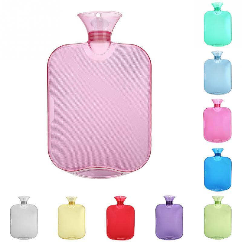 31*20cm Thick Water Bag Bottle Transparent 2000ml Hot Water Bottle High Density PVC Explosion-proof