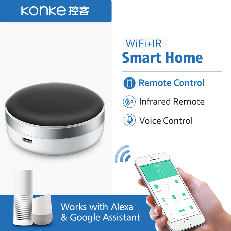 K Smart Home Automation WiFi IR Switch Universal Intelligent APP Remote Controller for xiaomi phone iphone Google Home Alexa