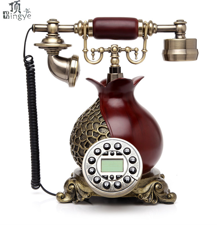 Ye are the top antique telephone European Garden Home Office landline phone phone Decoration home art rustic phone household