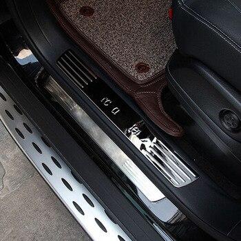 דוושה מוזמן מכסה סף אדן לוח מדבקות מגן trim עבור מרצדס בנץ X164 GL350 GL400 GL500 enterior אבזרים