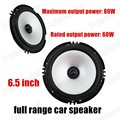 6.5 inch car audio speakers car speakers full range subwoofer 2x80W foam rubber edge free shipping hot sale
