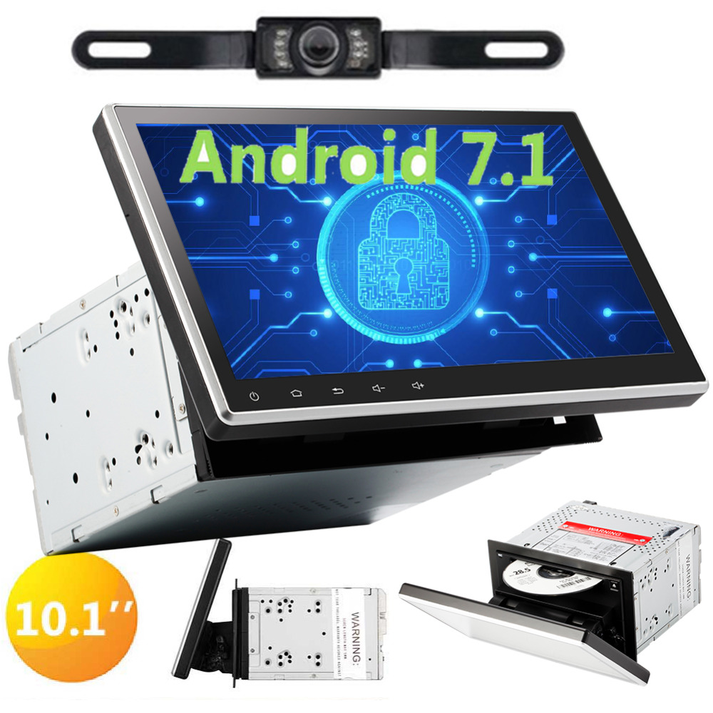 OBD2 3G//4G FM//AM Radio Fastboot Wifi Mirrorlink Aux USB SD 7 Double Din EINCAR Free Rear Camera+Android 7.1 2GB 32GB Car Stereo Octa Core Head Unit with Bluetooth Sat Navi free GPS Map Support DAB