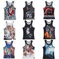 Jugadores Famosos James Curry caliente 3D Print Tank Tops Niños Mens Camiseta adolescente de Lycra Camiseta de Algodón Sueltos Unisex