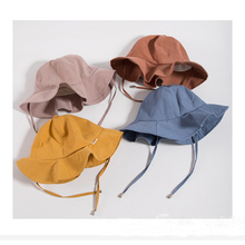 Children  Gift Top Quality Pure Cotton Girl Boy Bucket Hats Baby Outdoors Beautiful Princess Fisherman Hat 8-24months
