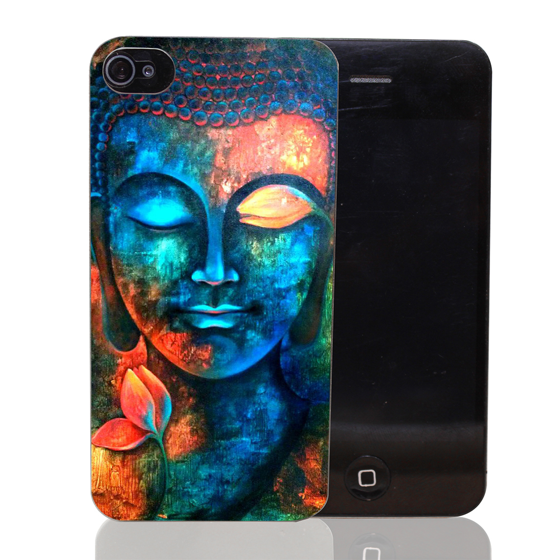 969T Buddha colorful Hard Transparent Clear Case for iPhone 4 4s 5 5s SE 5c 6 6s 7 & Plus