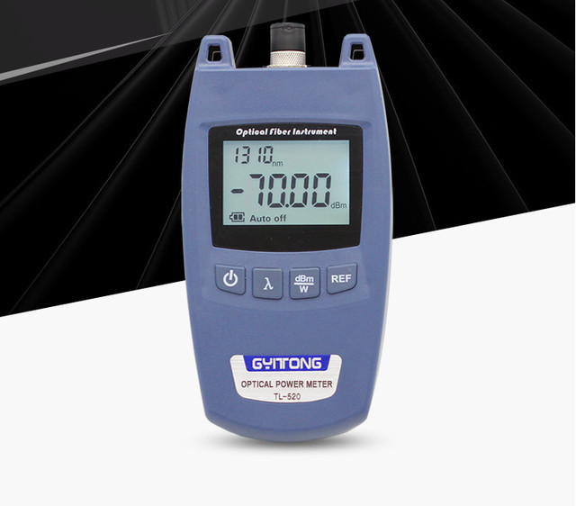 FTTH Optical Power Meter OPM Fiber Optical Cable Tester and Laser Source   70dBm~+10dBm SC/FC Connector Fiber Tester