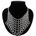 2016 hipérbole collar de aleación de zinc mujeres oro/plata plateado niñas collares joyería de moda collier femme MDJB160