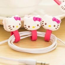 10 Pcs Kawaii Cartoon Cable Winder Earbud Rubber Cord Wrap Wire Organizer Earphone Holder Clip Headphone