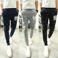 2015 осенние брюки для отдыха и мужской одежды печати мода мужские брюки брюки бесплатная доставка
