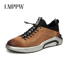 Men Casual Shoes New 2019 Men Chunky Sneakers Genuine Leather Men Sport Running Shoes Outdoor Walking Travel Shoes High Quality fotwear men leather casual shoes combines sport and casual classic style high quality luxury ture leather men s shoes walking