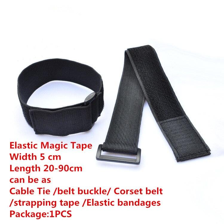1PCS MT012  Elastic Magic Tape Width 5 cm Length 20-90cm Cable Tie belt buckle strapping tape Elastic bandages Corset belt