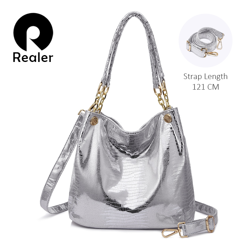 REALER Ladies Shoulder Bags Female Messenger Crossbody Bags For Women Handbags Animal Prints Totes 2019 Hobo Top-handle Bag