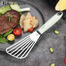 Stainless Steel Fried Shovel Spatula Steak Pizza Grasping Cutters Spade Pastry Barbecue Tools Plastic Handle Kitchen Utensils
