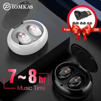 TWS Wireless Headphones Heavy Bass Earbuds Headset Sport Waterproof Noise Cancelling Stereo Bluetooth Earphone with Charging Box
