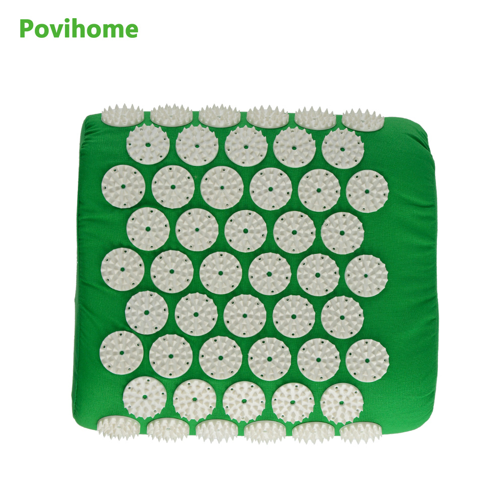 Massage Pillow Pain Acupuncture Spike Relieve Stress Pain Fatigue Head Back Foot Massage Yoga Pillow Massager C11355 fitness equipment acupuncture spike yoga pillow for muscles relieve the stress pain of neck head back massage relax c11497