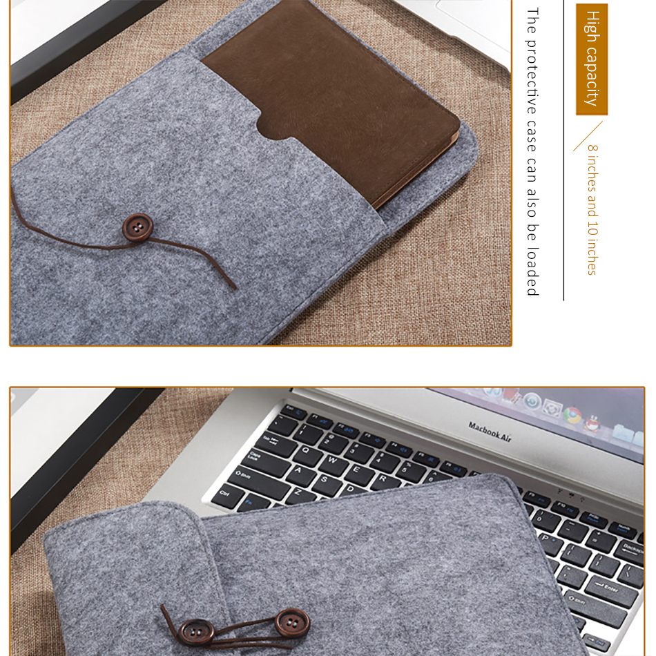 Business 8inch Tablet Sleeve Bag Cover For iPad Mini 1234 Xiaomi Pad 123 10.5inch Protective Pouch Case For iPad 2017 Air 1 (5)
