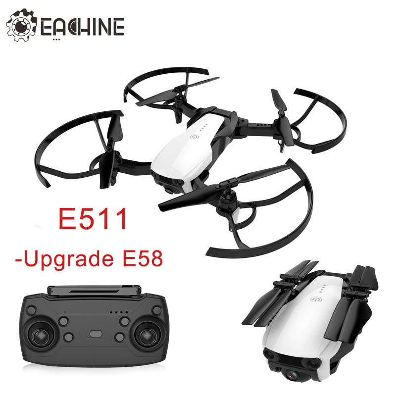 Upgraded E58 - Eachine E511 RC Drone WIFI FPV 1080P / 720P HD Camera Headless Mode 16Mins Flight Time Foldable Racing Quadcopter 2017 korean cute cat anime leather card holder purse women small clutch female purse coin slim mini wallet dollar bag qb230