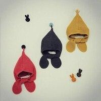 Novo Chapéu Do Inverno Do Bebê de Malha Crochet Do Bebê Cap Menina Para Crianças algodão Cap Quente Bonito Crianças Quente Gorro Unisex Chapéus Costume Acessórios