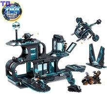 Kazi 794 PCS Ville Guerre X-Agents Hélicoptère Building Block Set Enfants Jouets Brinquedos Militaire Arme Brique Compatible avec Legoe