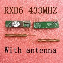 2pcs X RXB6 433Mhz Супергетеродинный беспроводной модуль приемника с антенной
