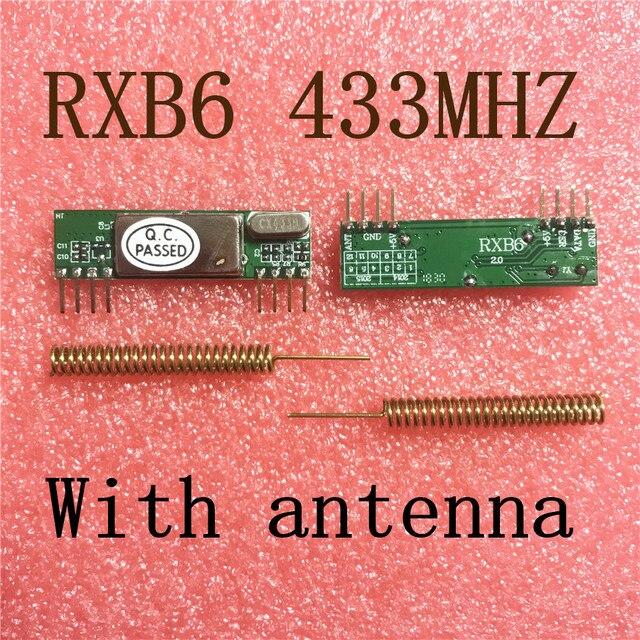 2 cái X RXB6 433 mhz Đổi Tần Không Dây Receiver Module Với antenna Vận Chuyển Miễn Phí