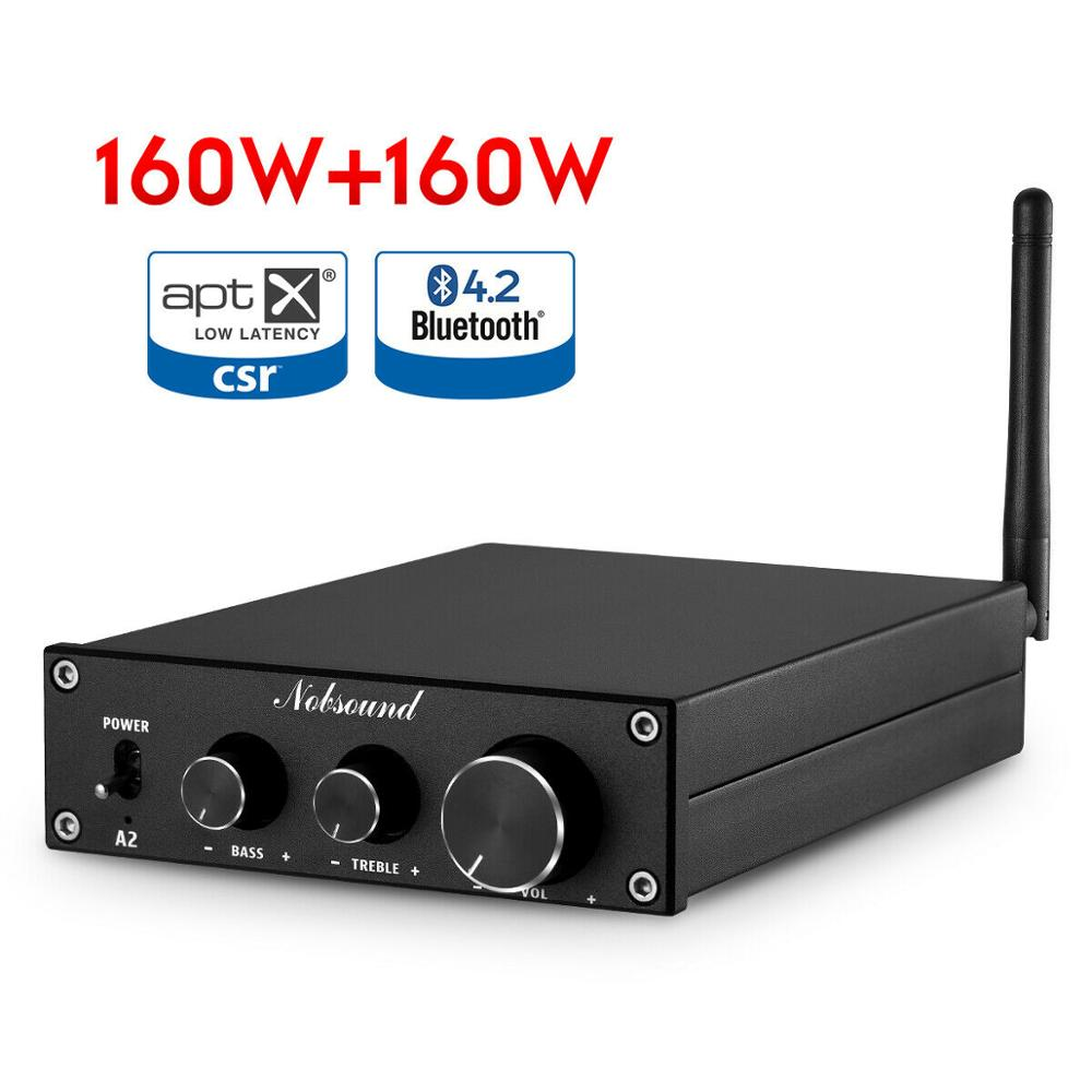 Nobsound HiFi Stereo Bluetooth Class D Power Amplifier Home Stereo Audio Amp APTX-LL 160W+160W