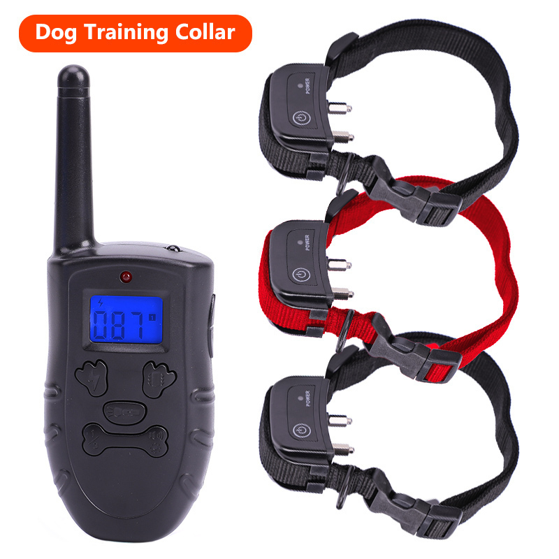 Waterproof 1000ft 300 meters Electric Remote Control Dog Training Collar Rechargeable Shock vibration
