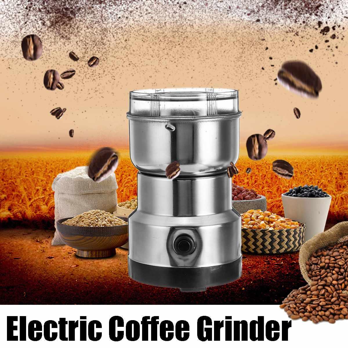 Electric Coffee Ground Grinder Beans Spice Herb Nuts Blender 200w Mill Machine Black