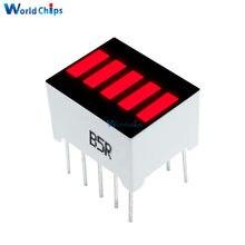 5 Pcs Fai da Te 5 Segmento di Colore Rosso 1 Digit Bar Display a Led per Arduino Fai da Te Elettronico Pcb Board