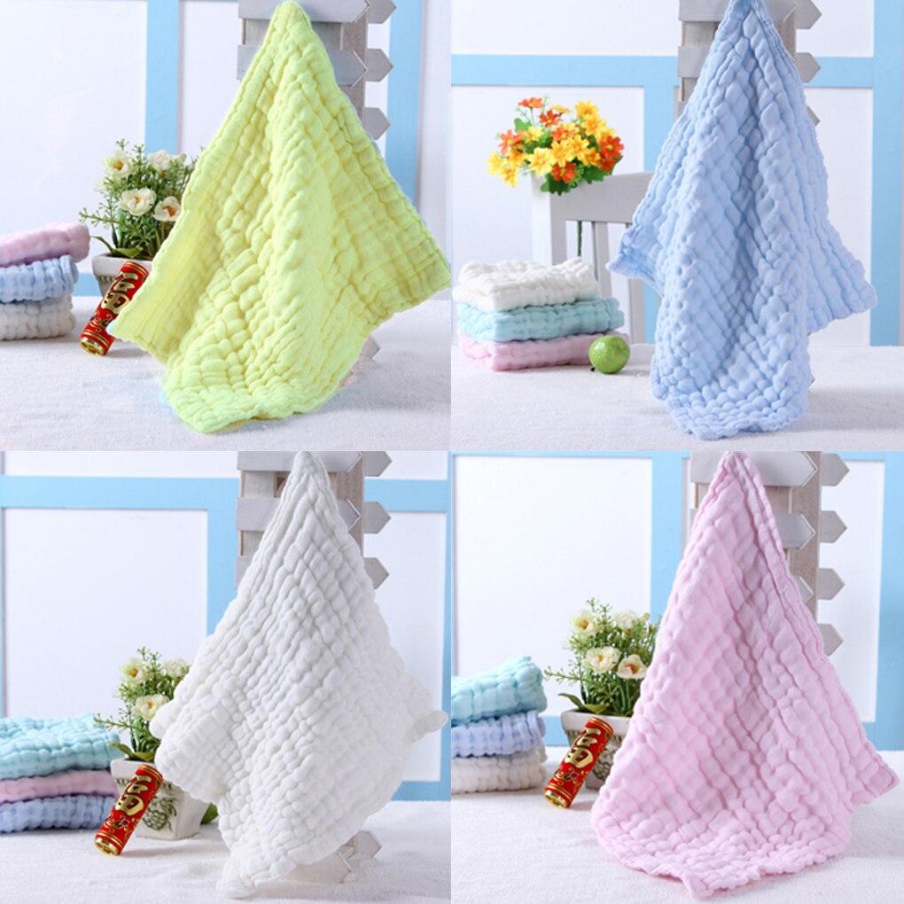 28 * 28cm Soft Cotton Baby Handkerchief Infant KidsTowel Newborn Baby Washcloth Baby Child Feeding Wipe Cloth Bathing Face