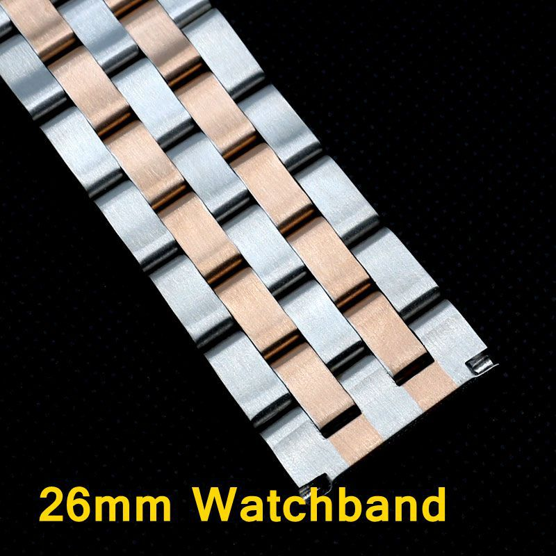26mm Watch Strap for Hours Stainless Steel Solid Watchband Bracelet GD016526 26mm watch strap for hours stainless steel bracelet for wrist watches gd016326