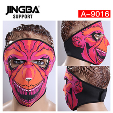 JINGBA SUPPORT Halloween Skull Cool Mask Outdoor Riding Sport Windproof Bike Mask Full Face Facemask Motorcycle Warm Ski Mask цены